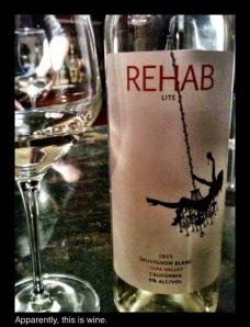 Rehab Lite, Sauvignon Blanc, Napa Valley, California, 2011, 9% abv