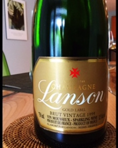 Brut Vintage, Gold Label, Lanson, Champagne AC, France, 1999, US$75.00